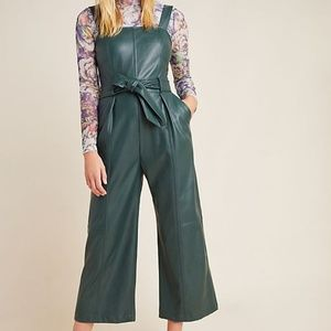 Anthropologie Samira Faux Leather Jumpsuit NWOT